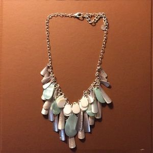 Talbots Chunky Layered Necklace Silver New